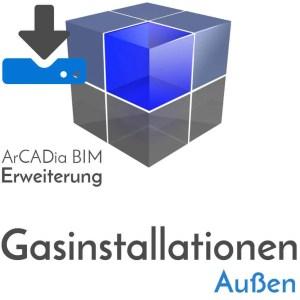 ArCADia BIM Erweiterungen Gasinstallation Außen - Gasversorgung - Gasdruchfluss Bestimmung - Download