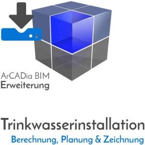 ArCADia BIM Erweiterungen Shop - Planung und Zeichnung von Trinkwasserinstallationen - Armaturen - Einrichtungen- Druckverlust - Wasser - Download