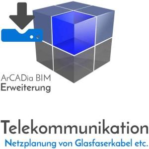 ArCADia BIM Erweiterungen Shop Planung von Freileitungsnetze - Glasfaserkabel - Kupferkabel - Erdkabel - Kabelrohre - Download