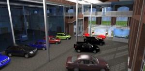 ArCADia BIM LT Architektur Erweiterung - 2D 3D CAD Original Rendering - Autohaus Schauraum 2