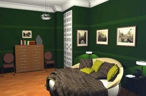 ArCADia BIM LT Architektur Erweiterung - 2D 3D CAD Original Rendering - Innenansicht Schlafzimmer
