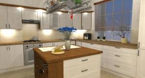 ArCADia BIM LT Architektur Erweiterung - 2D 3D CAD Original Rendering - Visualisierung Küche Innen