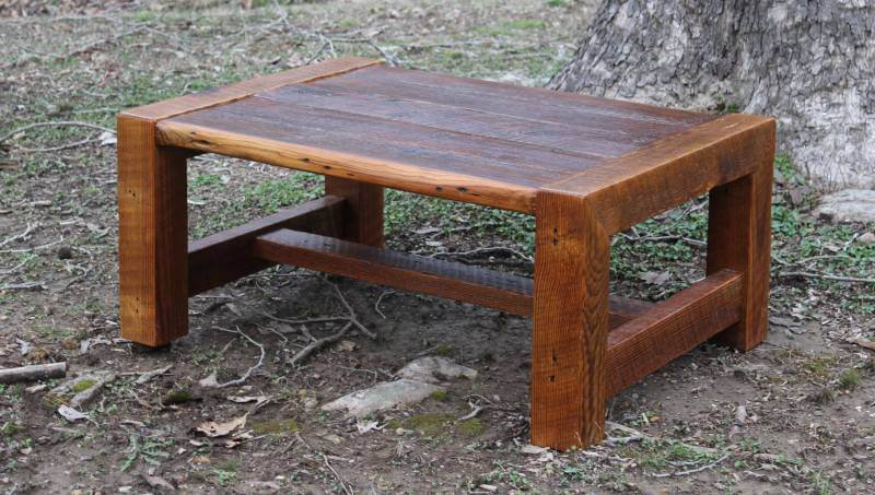 farmhouse rustic wood coffee tables