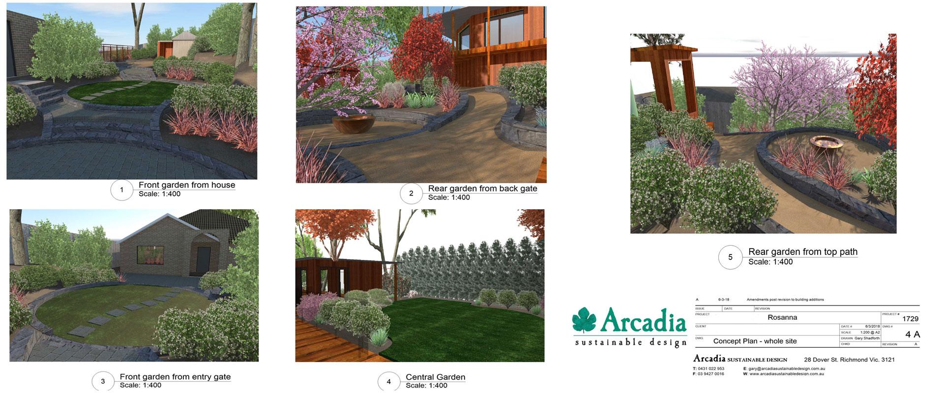 3D Landscape plan
