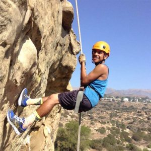 Rappelling with Grant High School at Stoney Point | arc Adventure