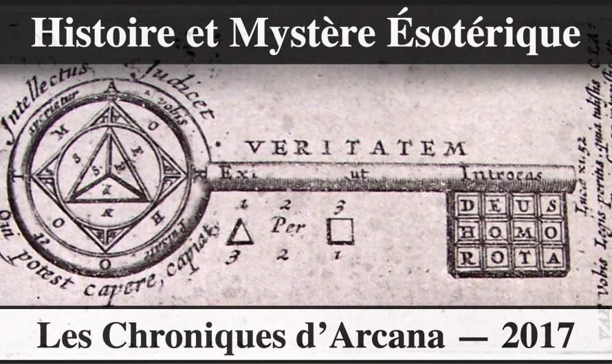 Histoire, Les Mystères Esotériques – Les Chroniques d'Arcana