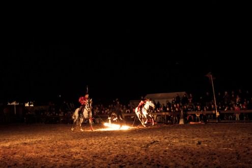 Feuershow mit Stunt