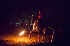 Reiter mit brennender Lanze