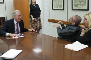 Senator Tom Harkin and Tyler Smothers