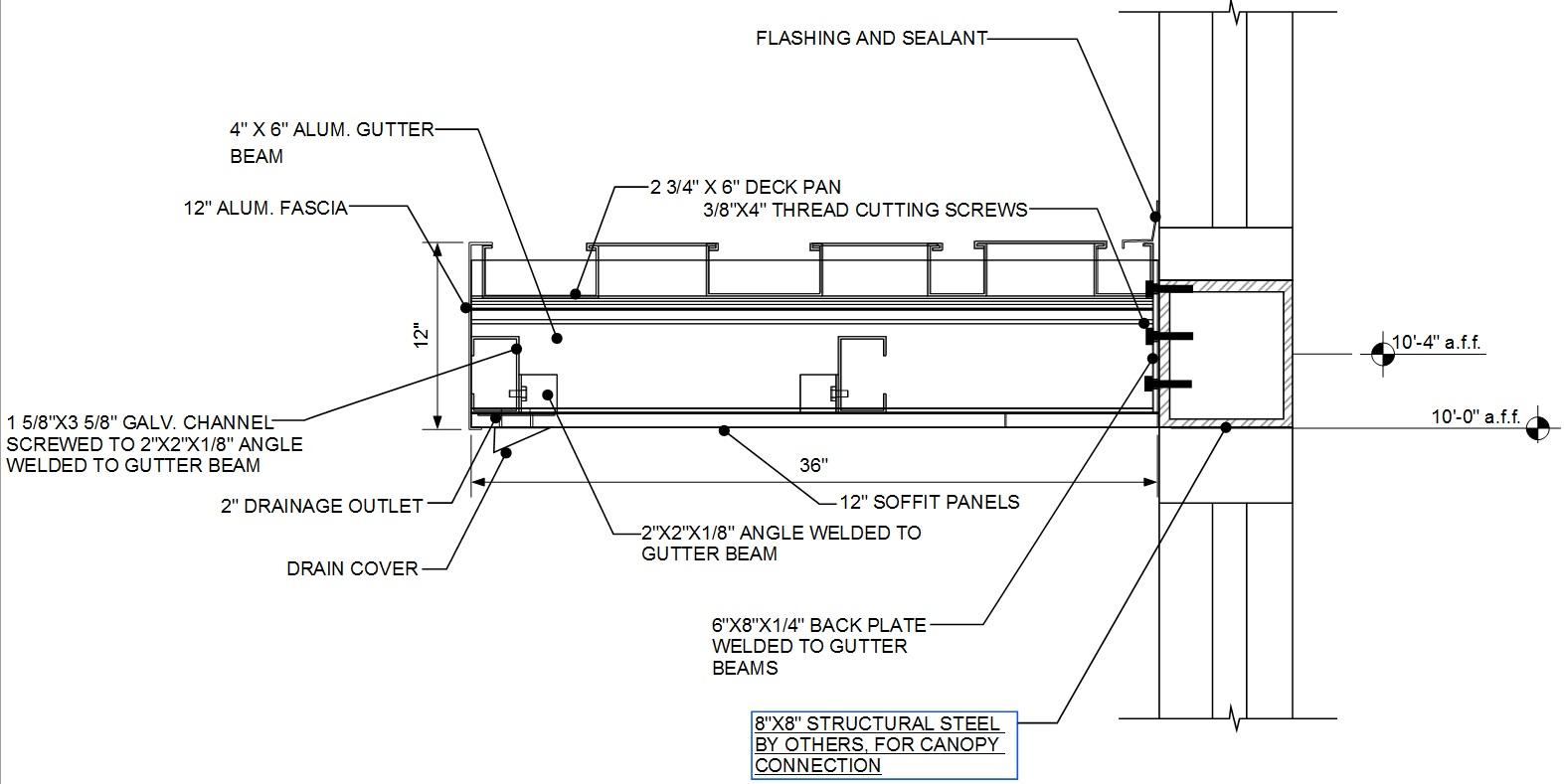 Aluminum Canopy Details Amp Sc 1 St Avadek