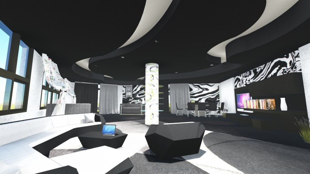 Interior Design Of A Living Room Using Lumion Rendering