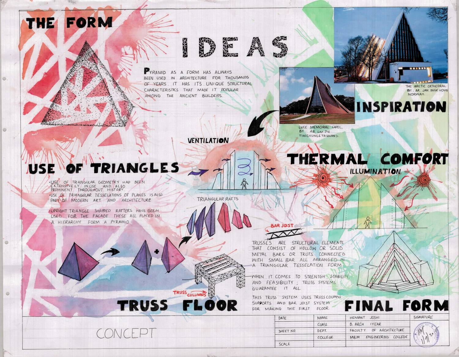 Another Of My First Year S Design Presentation Sheet