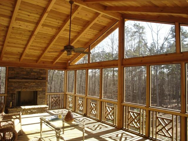 constructing a screened porch