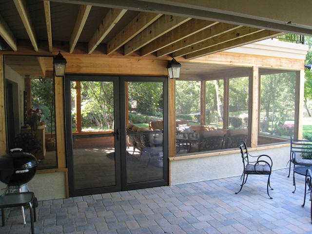 building a screened porch over your
