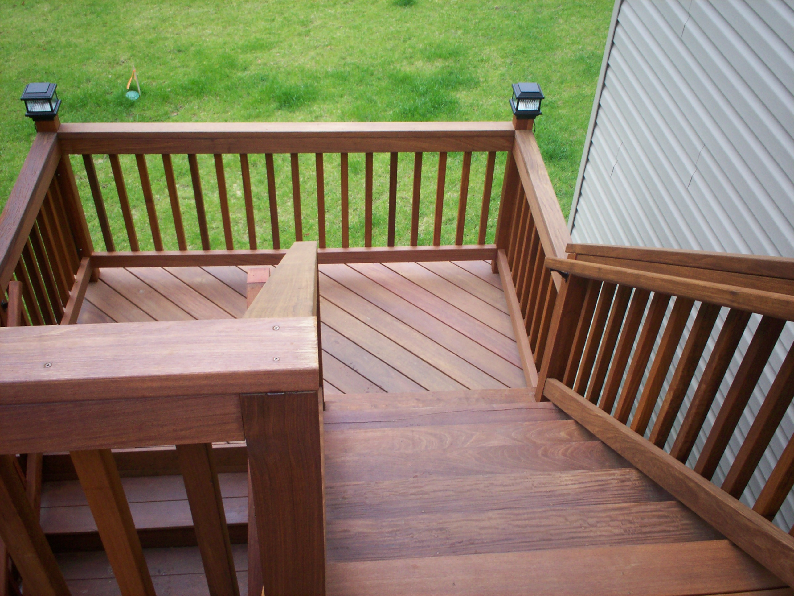 Deck Stairs Deserving Stares… Project Slideshow St Louis Decks   Front Porch Stairs Design   Front Roofing   Small   Stone   Verandah Step   Beautiful