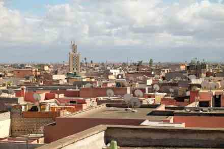 Marrakech is nicknamed the Red City for the red sandstone used in building construction.