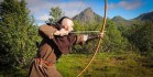 Shooting a Yew Viking Bow - Lofoten Norway