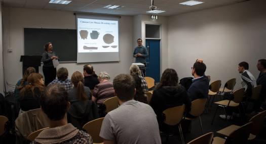 Dr. Jerolyne E. Morrison gives here talk on Minoan Cooking at UCD School of Archaeology -Part of Dr.Barry Molloy's 'Breaking the Mould' Seminar Series with UCD Centre for Experimental Archaeology