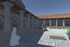 3D visualisation of a reconstructed villa.