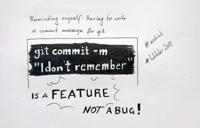 git commit messages are a feature not a bug