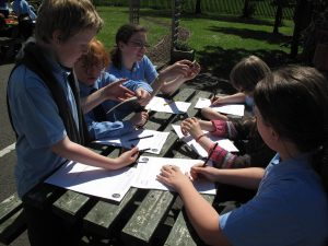 Learning outdoors adds to the fun of the Heritage Heroes project