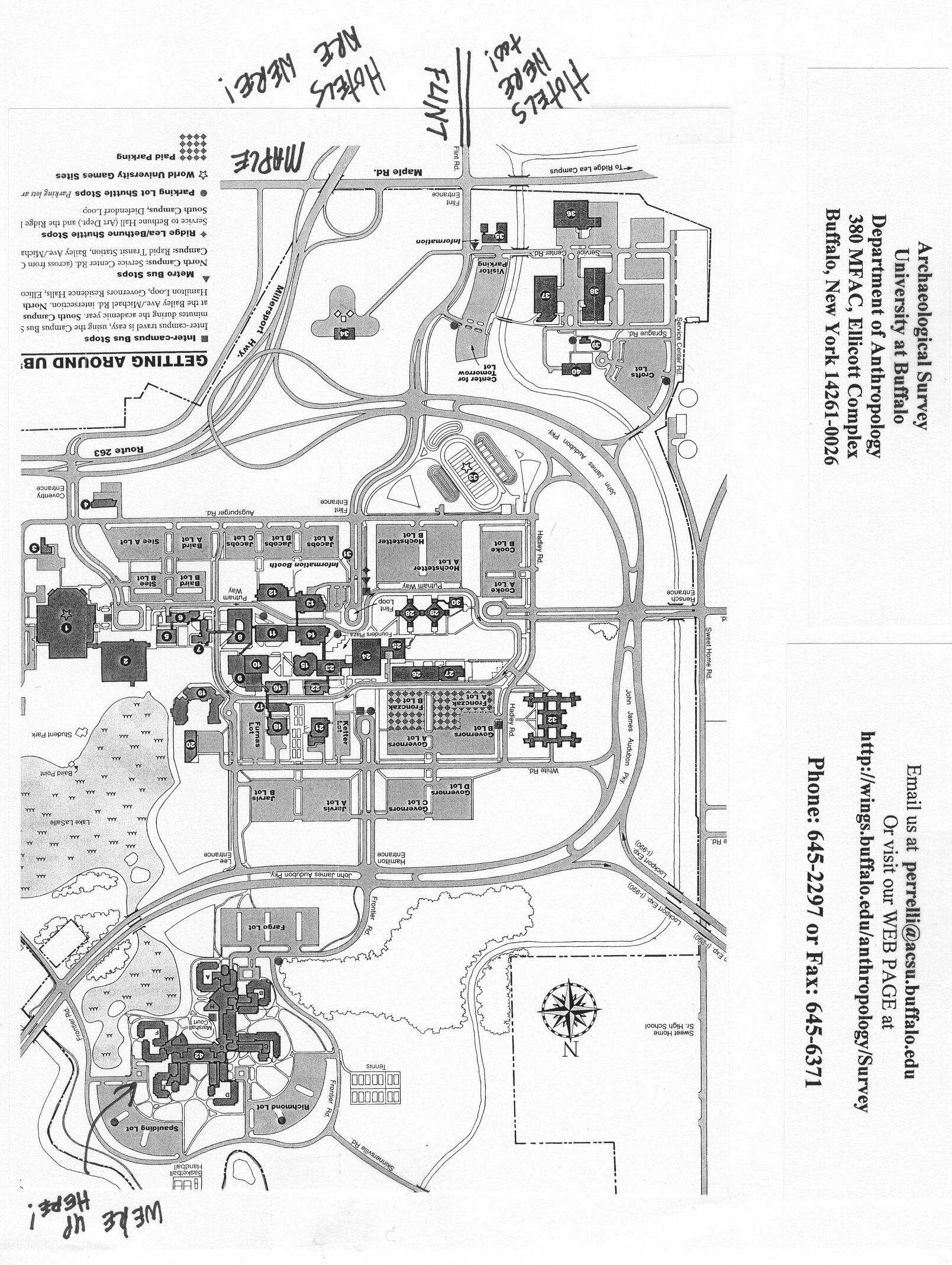 Suny Buffalo Campus Map.Ub North Campus Map