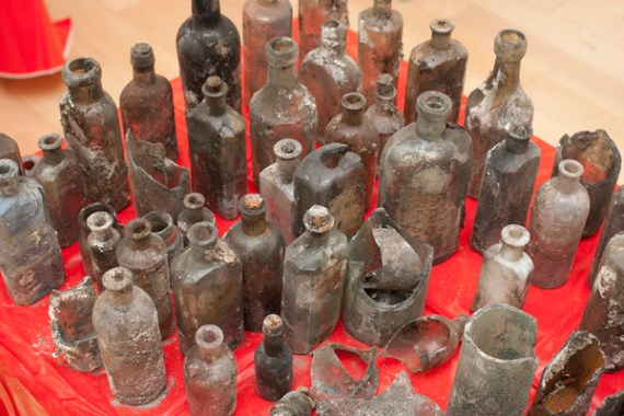 Some of the many bottles recovered - image: ORNC
