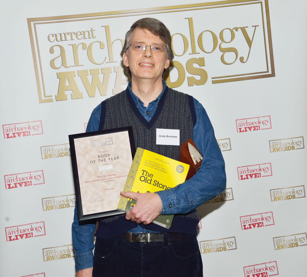 Andy Burnham collects the award for Book of the Year 2019 at the Current Archaeology Awards.