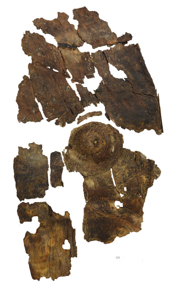The remains of the shield after conservation.