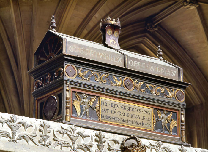 One of the mortuary chests displayed in Winchester Cathedral.