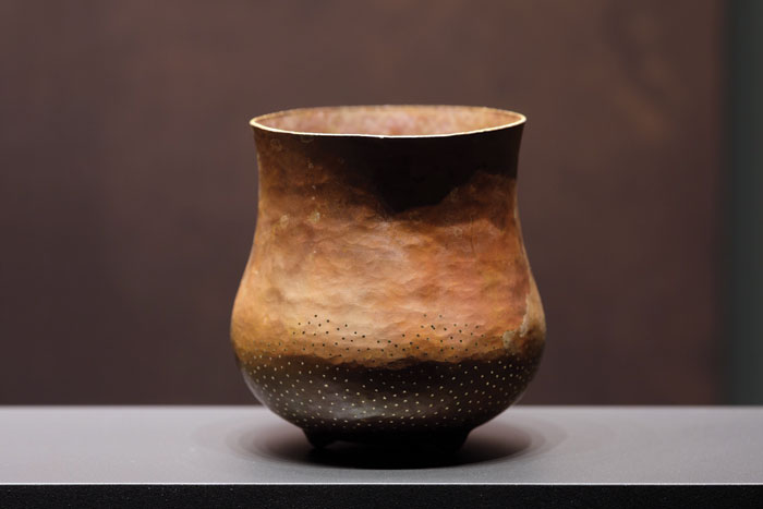 One of the new vessels which bears a resemblance to earlier ceramics, such as prehistoric polypod and beaker pots