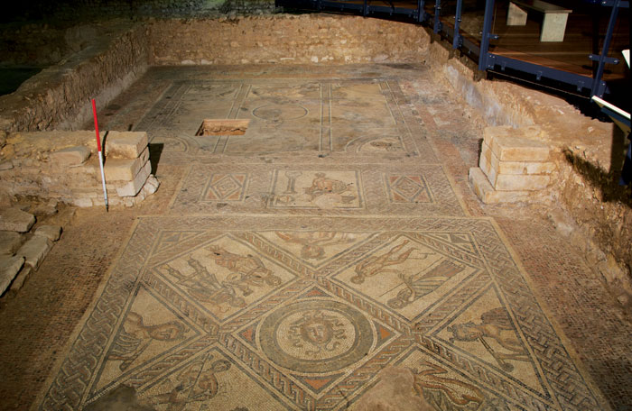 Elaborate mosaics were added to Brading Roman villa on the Isle of Wight in the 4th century – but shortly afterwards, the complex appears to have been repurposed  as a place for drying and malting grain