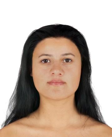A facial reconstruction of 'Ava'