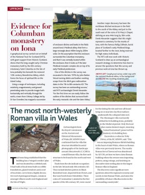 News article on 'the most north-westerly Roman villa in Wales'