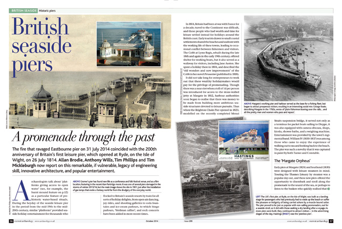 Article in CA 295 titled British seaside piers: a promenade through the past