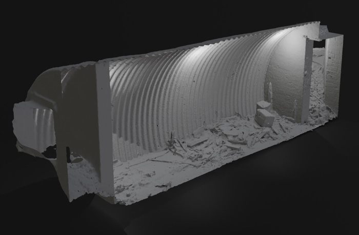 3D scan of the bunker