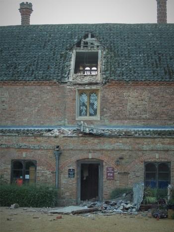 The collapsed dormer window