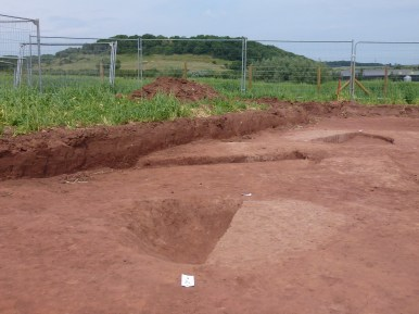 Half section through pits dating from the late Bronze Age to the early Iron Age