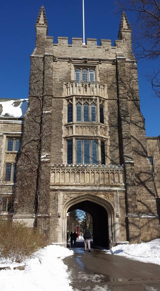 The archway underneath University Hall
