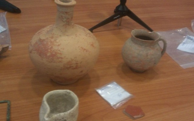 Some of the artifacts discovered during the 2014 excavations at Ratiaria so far. Photos: Radio Vidin