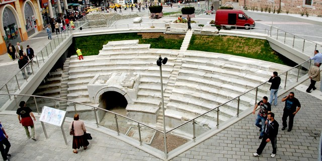 The Ancient Roman Stadium in Bulgaria's Plovdiv after its restoration. Photo: Novotel Plovdiv