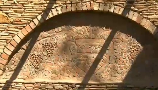 Part of the ruins of the Ancient Roman villa estate of a Roman military veteran which contained a ceramic factory near Bulgaria's Pavlikeni. Photo: TV grab from News7
