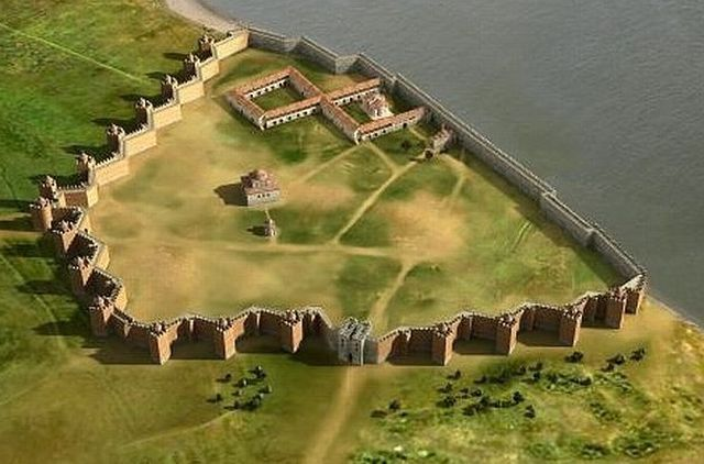A 3D reconstruction of the fortress of Drastar (today's Silistra, Durostorum in Thracian and Roman times) in the 9th-14th century (most of the period of the medieval Bulgarian Empire). Photo: Silistra Regional Museum of History