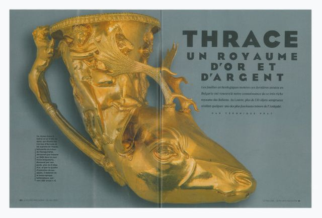 "Leading French newspaper Le Figaro has published a feature story on Bulgaria's Ancient Thrace exhibit in the Louvre in Paris entitled, ""Thrace - Land of Gold and Silver"". Photo: BTV News/Le Figaro"
