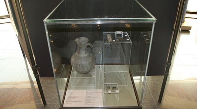A clay pitcher from the 8th century AD found in the grave of an Ancient Bulgar warrior aristocrat. Photo: National Museum of History