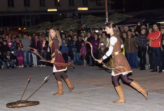 """Barbarians - Ancient Thracians (including Dacians) and Goths - are also represented by reenactors at the Ancient Heritage Festival """"Eagle on the Danube"""" in Bulgaria's Svishtov. Photo: Nelly Petrova, EagleontheDanube.org"""