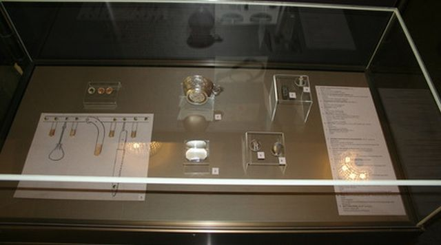 """This 9th century AD silver cup found in a grave in Veliki Preslav (""""Great Preslav""""), capital of the First Bulgarian Empire in 893-970 AD, has a bottom inscription in Greek, reading, inscription """"Mother of God, help Sivin, Grand Zhupan of Bulgaria"""". Photo: National Museum of History"""