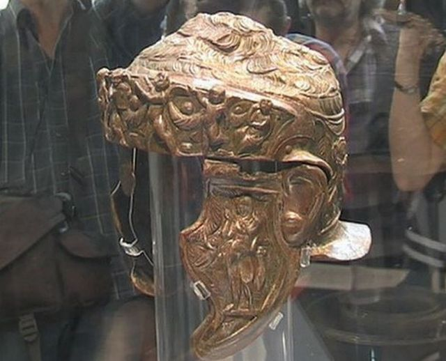 Plovdiv Archaeology Museum Shows for the First Time Rare Thracian Helmet with Trojan War Motifs from Bulgaria's Brestovitsa
