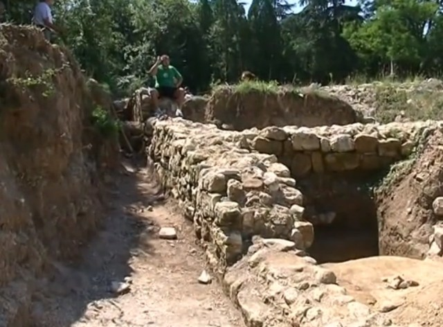 Ruins of the Early Christian Byzantine monastery complex in the Dzhanavara area in Bulgaria's Varna. Photo: TV grab from YouTube