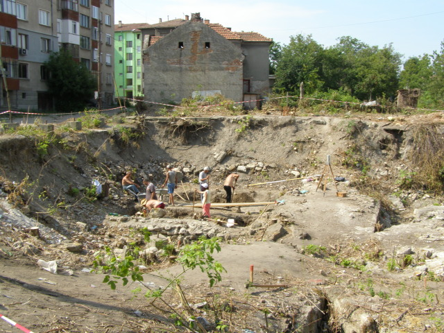 A photo from the 2014 excavations of the fortress wall of the Ancient Roman fortress of Bononia in the Kaleto Quarter of the northwestern Bulgarian city of Vidin. Photo: Vidin Online